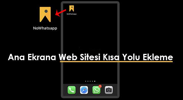 Ana ekrana site kısa yol ekleme